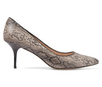 Balthasar Snake-effect Leather Pumps Schwarz