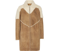 Tempoly Reversible Shearling Coat Camel