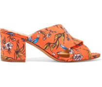 Stanley printed twill mules