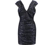 Hoxan Metallic Stretch-tulle Mini Dress Blau