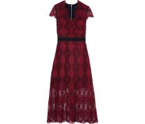 Garland Guipure Lace Midi Dress Burgunder