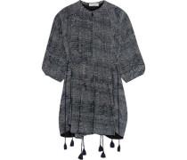 Puebla Wabi printed silk-crepe mini dress