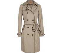 Adele Houndstooth Shell Trench Coat Stein