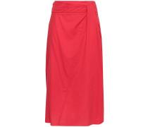 Gathe Cotton Midi Skirt