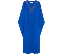 Crystal-embellished Silk Gown Königsblau
