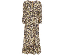 Rosemary Leopard-jacquard Silk Midi Dress