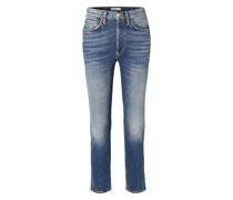 Comfort Stretch 50s Cigarette High-rise Straight-leg Jeans