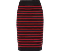 Stretch wool-blend pencil skirt