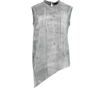 Owen Striped Washed-silk Tank Weiß