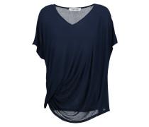 Denver Draped Stretch-jersey T-shirt Navy