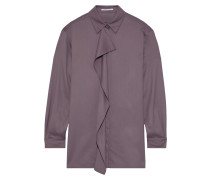 Ruffled Wool And Cashmere-blend Twill Shirt