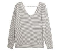 Sadie striped modal-blend jersey pajama top