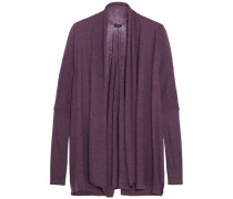 Draped Cashmere Cardgian Brombeere