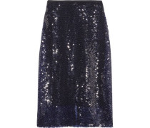Sequined knitted midi skirt