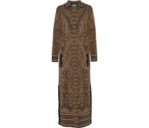 Avarga Metallic Jacquard-knit Coat Braun