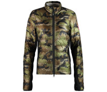 Hybridge Lite Jersey-paneled Quilted Shell Down Jacket Armeegrün