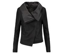 Sinoia Draped Leather Jacket Schwarz