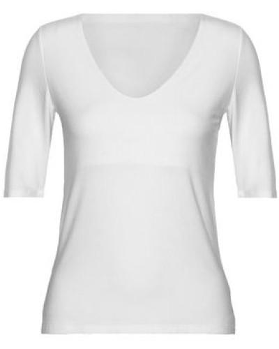 Cutout Stretch-modal Top White