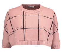 Cropped Checked Cashmere Sweater Altrosa