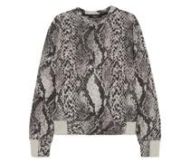 Strike Cotton-blend Snake-jacquard Sweatshirt