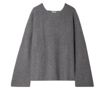 Seoul Open-back Ribbed Cashmere Sweater