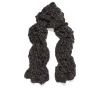 Oversized Open-knit Cashmere Scarf Dunkelgrau