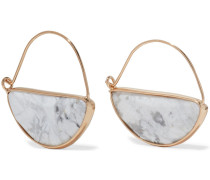 22-karat Gold-plated Stone Earrings