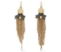And Gunmetal-tone Crystal Earrings