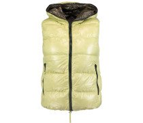Padded Shell Down Hooded Gilet Zitronengelb