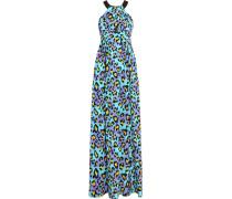 Leopard-print Silk Gown Mehrfarbig