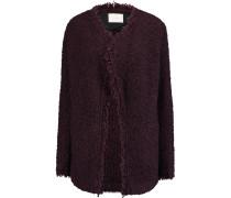 Campbell Oversized Textured-knit Cardigan Burgunder