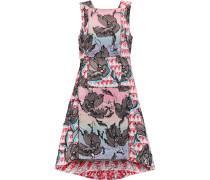 Paneled Bouclé-tweed Mini Dress Mehrfarbig