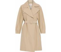 Cotton-blend garbardine trench coat