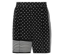Zandra printed silk crepe de chine shorts