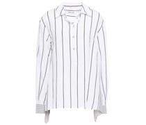 Striped Crepe Shirt