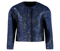 Metallic Silk-blend Jacquard Jacket Navy