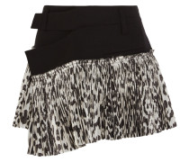 Stretch-wool And Leopard-print Silk-blend Wrap Mini Skirt Leoparden-Print