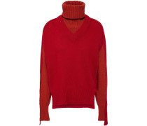 Convertible Wool-blend Turtleneck Sweater