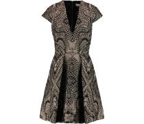 Roxana Metallic Matelassé Dress Schwarz