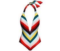 The Willow Striped Halterneck Swimsuit