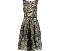 Metallic Jacquard Midi Dress Gold