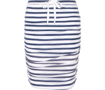 Striped Stretch-jersey Skirt Navy