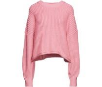 Pullover aus Einer Gerippten Baumwollmischung