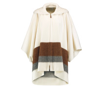 Wool And Cashmere-blend Poncho Creme