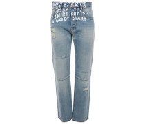 Woman Dre Frayed Boyfriend Jeans Light Denim