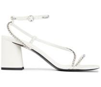 Drum Crystal-embellished Leather Sandals