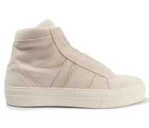 Suede High-top Sneakers Wollweiß