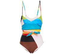Isolde Badeanzug mit Print und Knotendetail