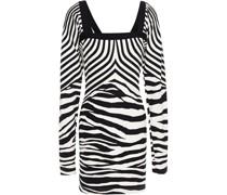 Minikleid aus Stretch-jersey mit Zebraprint
