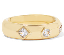 Jo Gold-tone Crystal Ring
